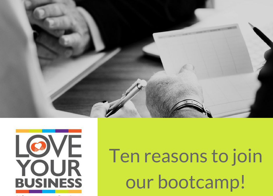Ten reasons to join our Business Boot Camp